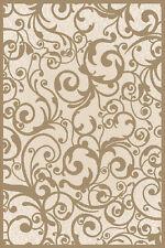"5x5 Radici Ivory Floral Swirls Curls Area Rug Round 1845 - Aprx 5' 3"" x 5' 3"""
