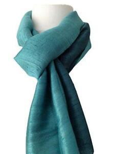 Jade Green Scarf Thai Silk Wrap Fair Trade Peacock Teal 100% Silk Wedding New
