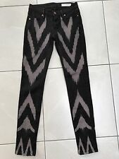 "SASS AND BIDE ""PLAYMAN ZIPPORA"" BLACK JEANS SIZE 25 / 7"