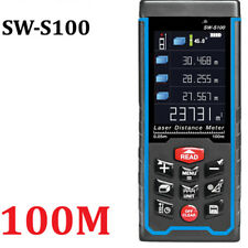 Digital Laser rangefinder 100m distance meter tape measure 328ft tools