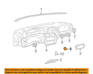 GM OEM Instrument Panel Dash-Blank Cover 15011553