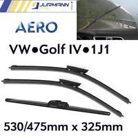Komplett-Set Aero Scheibenwischer Vorne 530/475mm & Hinten 325mm VW Golf IV 1J1