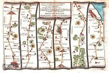 Antique map, The Road from Kings Lyn to Norwich continued to Yarmouth plate 076