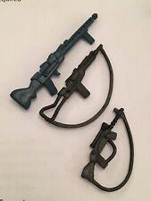 Vintage Star Wars Figure Weapons Rifles Set X3 Original