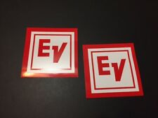 Electro Voice Stickers 3x3 Red White 2pcs