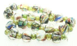 OliveStuart Handmade Lampwork Beads 19 multi colored round