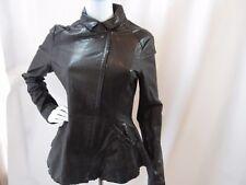 BURNING TORCH Black Long Sleeve Leather Jacket Size S