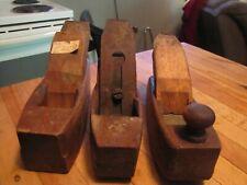 3 vintage wood coffin plains