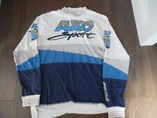 AXO MOTORCROSS JERSEY EVO 80,S SIZE LARGE USED BLUE &WHITE VERY RARE JERSEY.