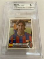 2005 Panini Champions Of Europe Lionel Messi BGS 9  Rookie RC 💥VERY LOW POP