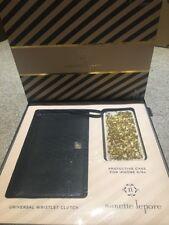Nanette Lepore Clutch Bag e iPhone 6/6s Case Conjunto de Regalo Nuevo Y En Caja-Oro Brillo