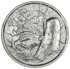 2017 2 oz WHITE WHALE SILVER IN AIR TITE ! ULTRA HIGH RELIEF !  PRIVATEER 777
