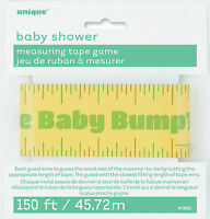 Baby Shower Measure the Baby Bump Game baby Shower Party Games tape measure