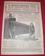 Dachbodenfund prospectus G. rüdenberg Jun. photo phonographe u 1910 alt publicitaires