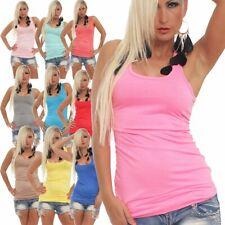 35587 Sexy Tailliertes Damen Top Tank Top Achsel-Shirt Sommer Hemd Longtop