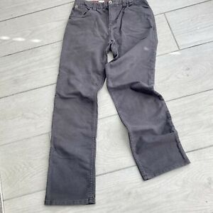 White Stuff Mens Grey Chino Jeans Size 30R Cotton Elastane Zip Fly Trousers