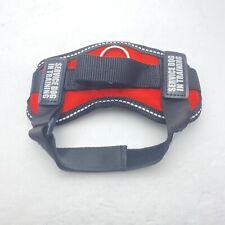 Industrial Puppy Service Dog Vest W/ Hook & Loop Straps & Handle-XXS-Red-NWOB