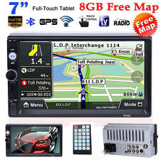 Double 7'' 2DIN In Dash GPS Navi Car DVD Player Bluetooth Auto Stereo Radio MAP