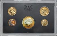 1969-S UNITED STATES MINT 5 COIN PROOF SET BU STRIKING TONED UNC COLOR GEM (MR)