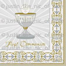 1st First Communion SILVER & GOLD GIRLS & BOYS Party Tableware
