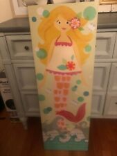 Pottery Barn Canvas Decoupage Blonde Mermaid Wall Art