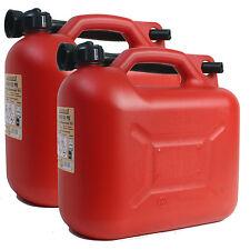 2x Benzinkanister 10L Benzin-Kanister 10 Liter Diesel NEU Kraftstoffkanister UN