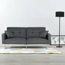 3 Seater Click-Clack Fabric Sofa Bed Sofabed Recliner Settee Couch Furniture