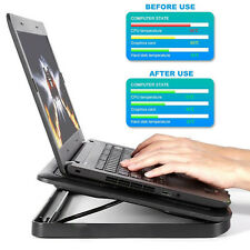 """15.6""""-17"""" Laptop Cooling Pad Cooler - Slim Portable Double USB Powered (5 Fans)"""