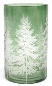 New Yankee Candle Balsam Tree Green Clear Glass Large Jar Holder