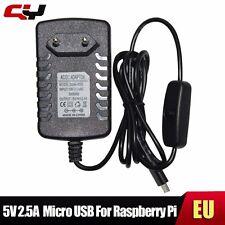 5v 2.5a Micro USB CON INTERRUPTOR ON/OFF Adaptador Cargador Raspberry Pi 2 3
