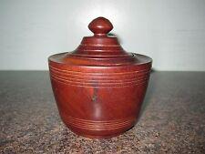 Vintage - Turned Hardwood  - Trinket Pot With Lid  - Lovely Rich Colour / Patina
