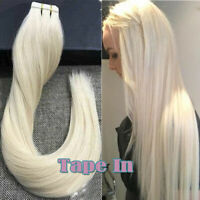 100% Remy Skin Weft Tape Glue in Real Human Hair Extensions THICK Full Head 120G