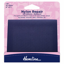 Hemline Self Adhesive Nylon Repair Patch Navy - 10x20cm Coat Tent Umbrella H689