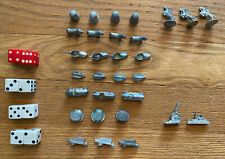 30 Piece Lot Vintage Monopoly Game Tokens & 4 Pairs of Dice