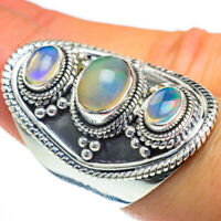 Large Ethiopian Opal 925 Sterling Silver Ring Size 7.5 Ana Co Jewelry R44263F