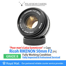 "⭐SERVICED⭐ Ricoh Rikenon 50mm F2 ""Poor-Man Summicron"" Pentax K/KA+ Cap [GRADE B]"