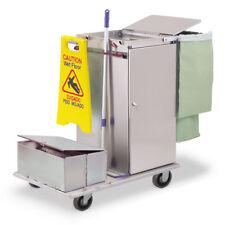 Royce Rolls #C36-LST2E Stainless Steel Mini Mini Microfiber Housekeeping Cart