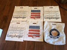 "Lot Of 6 Vintage Longaberger Plastic Shopping Bags Gift Bags 18"" x 16"""