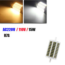 Dimmable R7S 118mm 15W 120 SMD 4014 LED Warm White Pure White Light Lamp Bulb AC
