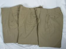 3 Vtg 1950's Us Army Tropical Wool Dress Pants Named Khaki-M-1 Type Ii Class 8