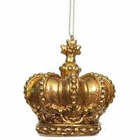Kurt S Adler Crown Figurine Christmas Ornament Jeweled Vtg Decoration Figure