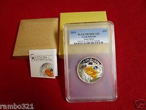 2013 $10 Cook Islands Nano Space PCGS NGC PR70 Silver Coin w/ Nano Chip bullion