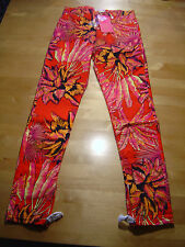 Versace HM Jeans Trousers  Röhre Skinny Red Palm 40, 42 US 10 or 12 UK 14 or 16
