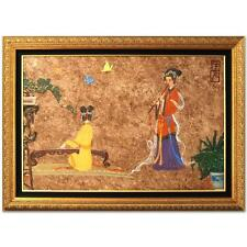Chen Yi Original Painting! Imperial Ladies Flute Piano Chinese Korean Art Framed