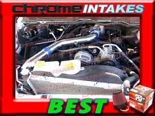 K&N+BLUE RED 02 03-07 DODGE RAM 1500 4.7L V8 FULL COLD AIR INTAKE KIT STAGE 3