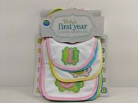 Neat Solutions Baby's First Year 12 Monthly Milestone Bibs. New