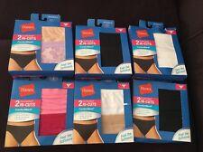 Women's Hanes ComfortSoft HI-CUT Panties  Cotton Tag Free 2 pack 4 Pcs Size 7