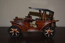 Unique Handcraft Wooden Antique Car Home Accent Decor