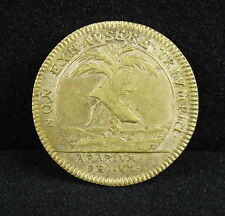 Jeton  Louis XIV N Bronze Jeton, NON. EXHAVSERE. TRIVMPHI token Ludovicus Magnus