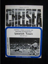 Orig.PRG   England  1.Division  1972/73   CHELSEA FC - IPSWICH TOWN FC  !!